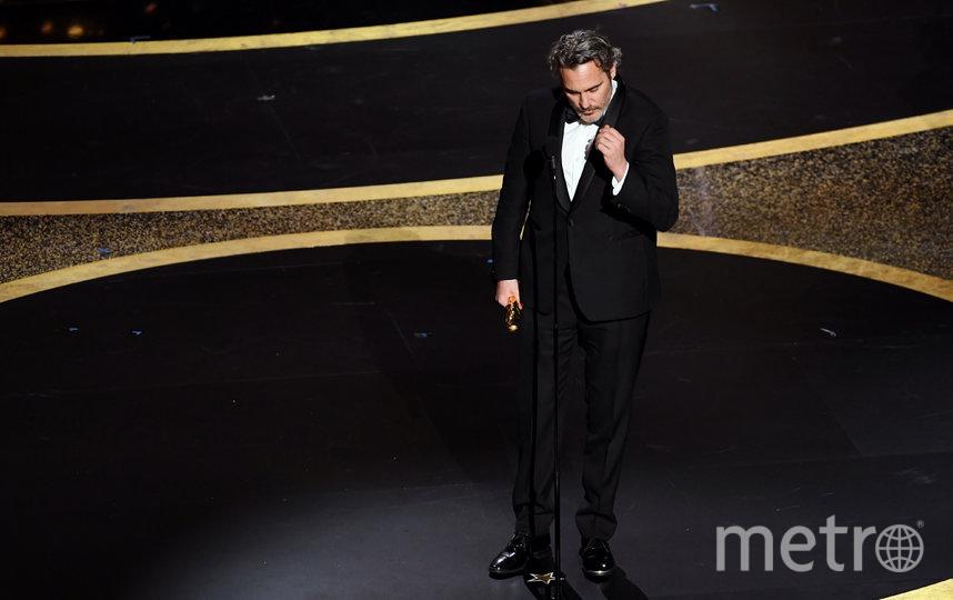 """Хоакин Феникс получил статуэтку за """"Джокера"""", в номинации """"лучший актёр"""". Фото Getty"""