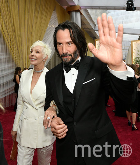 "Киану Ривз на ""Оскаре"" появился с мамой. Фото Getty"