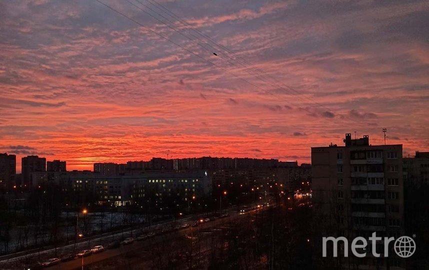 Рассвет 10 февраля в Петербурге. Фото https://www.instagram.com/smrnova.ag/