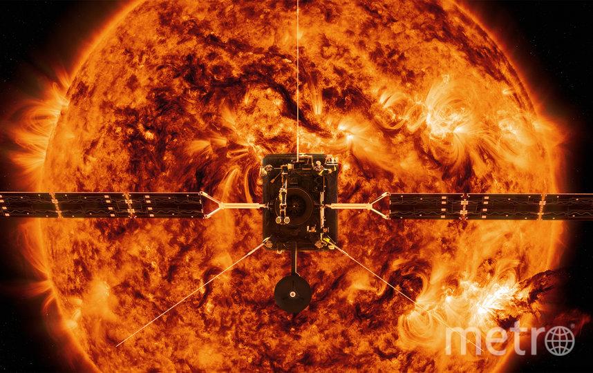 Задача Solar Orbiter – проведение исследований Солнца и его внутренней гелиосферы. Иллюстрация НАСА. Фото AFP
