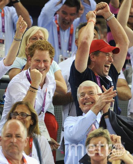 Питер Филлипс и принц Гарри. Фото Getty