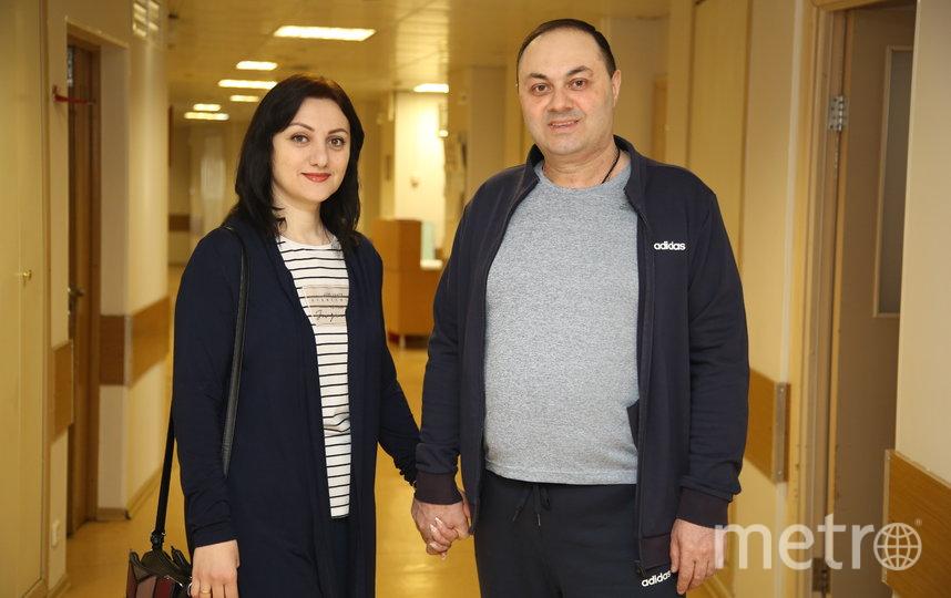 Армен и его жена Карина. Фото пресс-служба онкоцентра Блохина