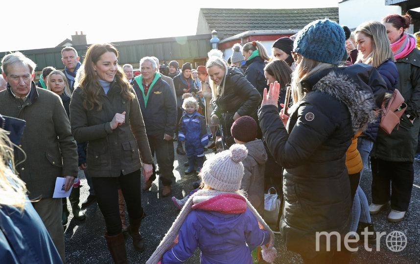 Кейт Миддлтон на ферме в Белфасте 12 февраля. Фото Getty
