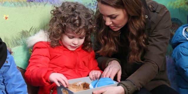 Кейт Миддлтон на ферме в Белфасте 12 февраля.