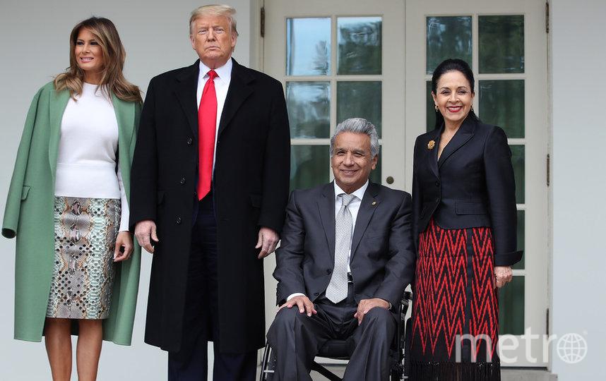Встреча четы Трамп с президентом Эквадора Ленином Морено и его супругой. Фото Getty