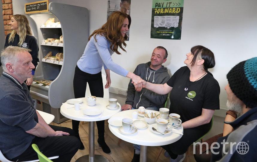 Кейт Миддлтон посетила кафе в Абердине. Фото Getty