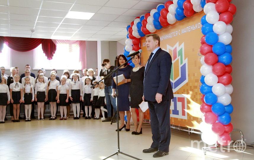 Отчет департамента образования совпал с открытием  новой школы №217 в Кировском районе.