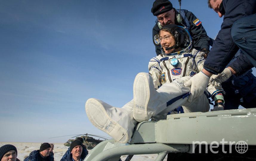 Кристина Кук вернулась с орбиты 6 февраля. Фото Getty