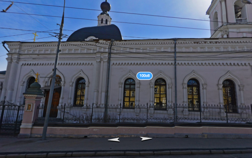 В Москве мужчина с ножом напал на прихожан церкви. Фото скриншот Яндекс.карты