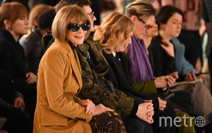 Анна Винтур на показе коллекции Виктории Бекхэм. Фото AFP