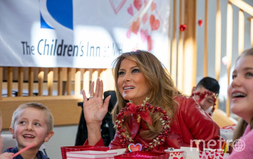 Мелания Трамп пообщалась с детьми 14 февраля. Фото Getty