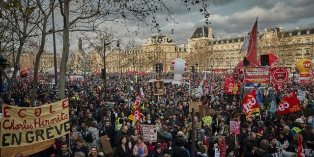 Забастовка во Франции.