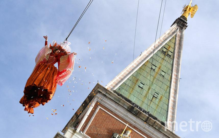 """Традиционный """"полёт ангела"""". Фото AFP"""