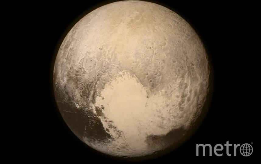 """Плутон. Фото сделано станцией """"Новые горизонты"""" с расстояния 768 000 км от поверхности. Фото Getty"""