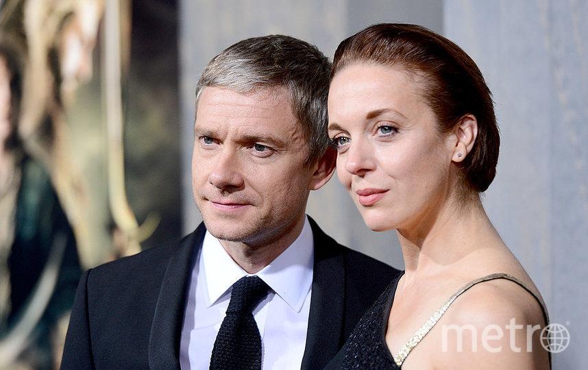Мартин Фриман и Аманда Аббингтон. Фото Getty