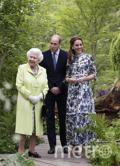 Королева II с принцем Уильямом и Кейт Миддлтон. Фото Getty