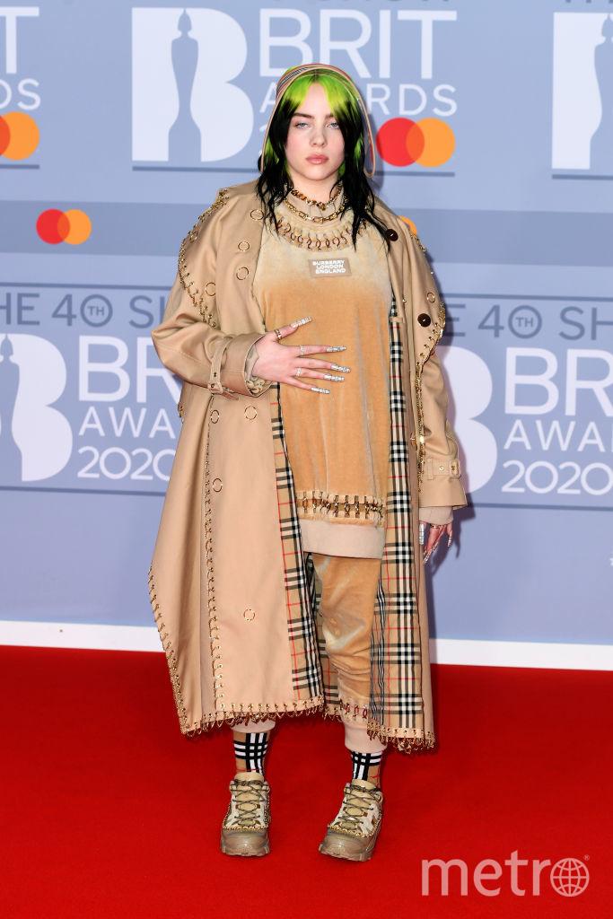 Красная дорожка премии BRIT Awards 2020. Билли Айлиш. Фото Getty