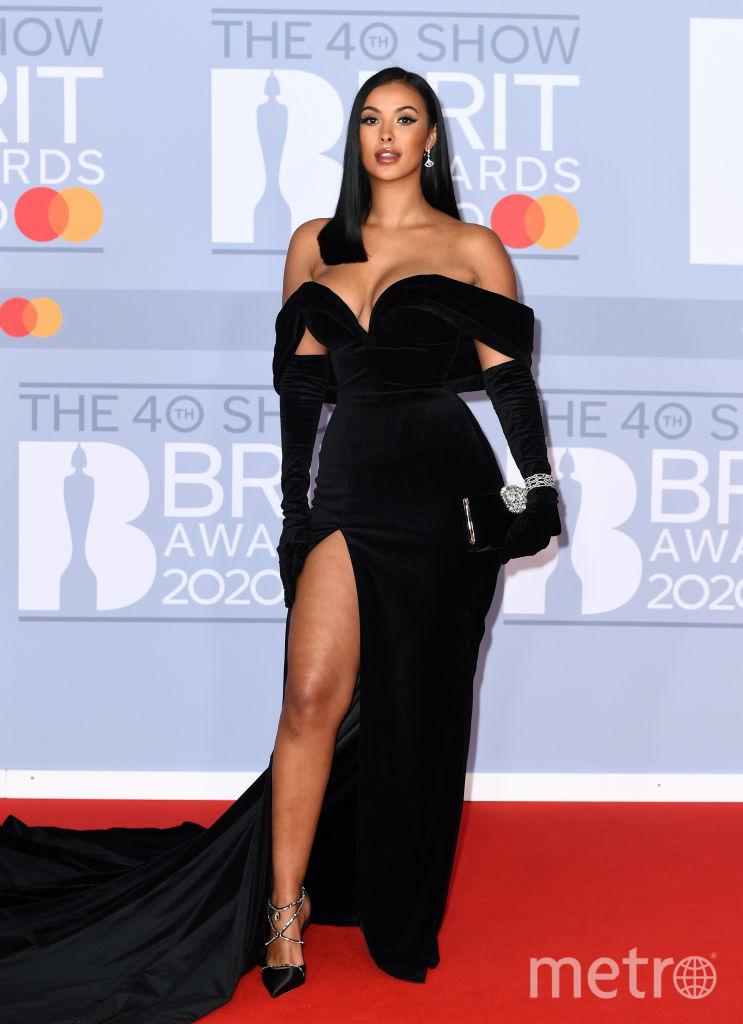 Красная дорожка премии BRIT Awards 2020. Maya Jama. Фото Getty