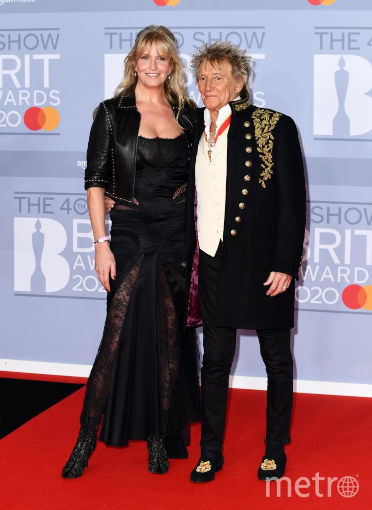 Красная дорожка премии BRIT Awards 2020. Род Стюарт и Пенни Ланкастер. Фото Getty