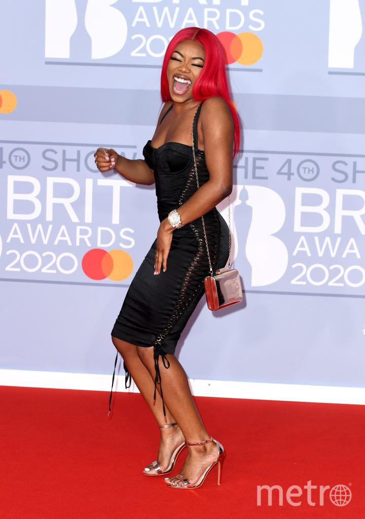 Красная дорожка премии BRIT Awards 2020. Lady Leshurr. Фото Getty