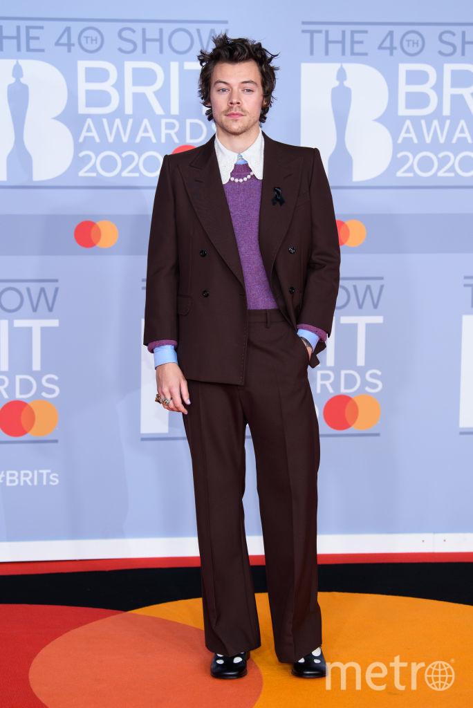 Красная дорожка премии BRIT Awards 2020. Гарри Стайлс. Фото Getty