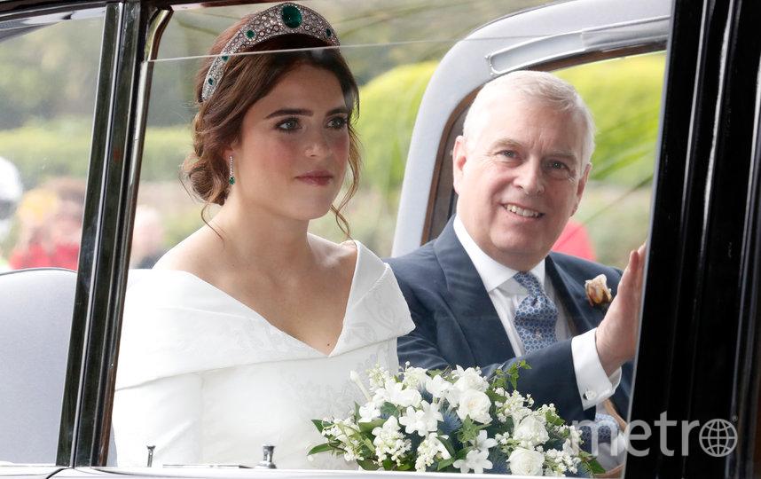 Принц Эндрю с очерью, принцессой Евгенией. Фото Getty