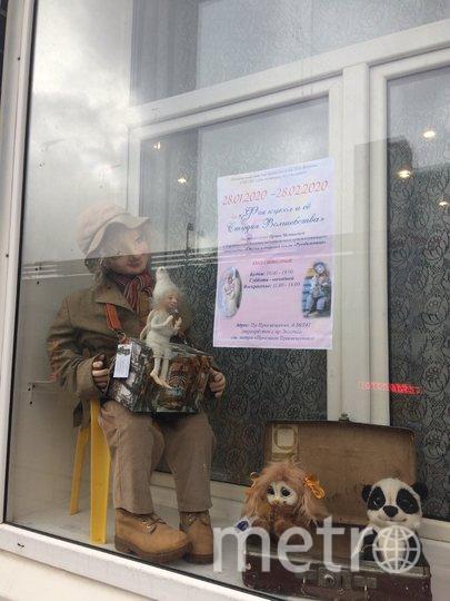 Куклы на витрине библиотеки. Фото предоставлено Юлией Медянцевой
