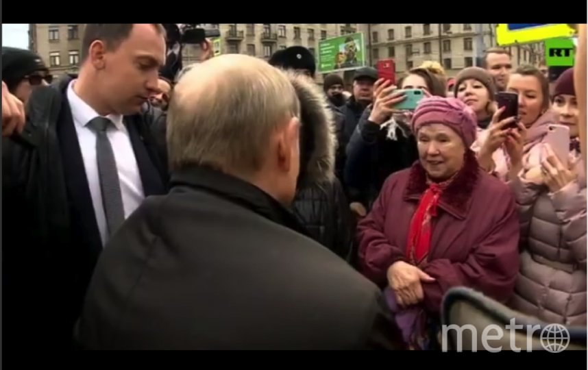 Путин в Петербурге. Фото Скриншот Youtube