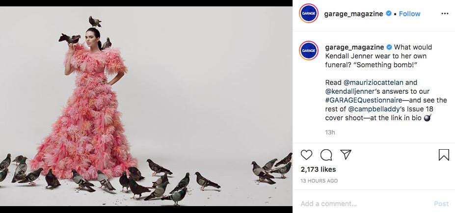 Кендалл Дженнер приняла участие в провокационной фотосессии. Фото скриншот instagram @garage_magazine   Campbell Addy