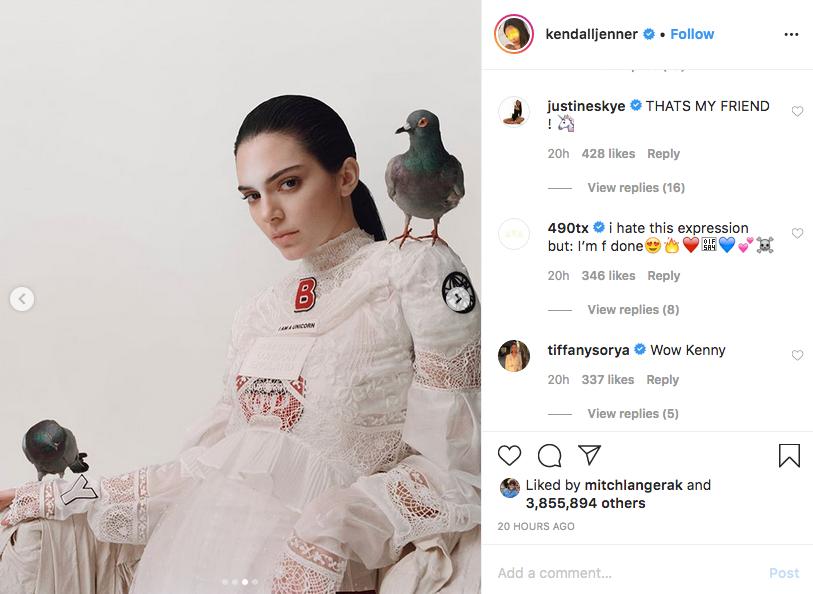 Кендалл Дженнер поделилась фотографиями со своими подписчиками в Instagram. Фото скриншот Instagram @kendalljenner