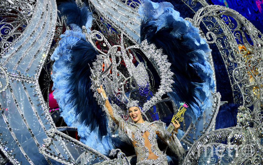 Сара Крус, королева карнавала 2020. Санта-Крус-де-Тенерифе. Фото AFP