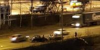 Гололёд и ДТП в Петербурге: авария заблокировала выезд из Горелово и Красного Села