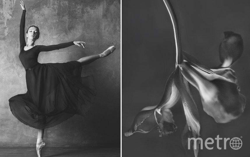 Балерина и цветы. Фото Юлия Артемьева