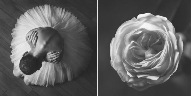 Балерина и цветы.