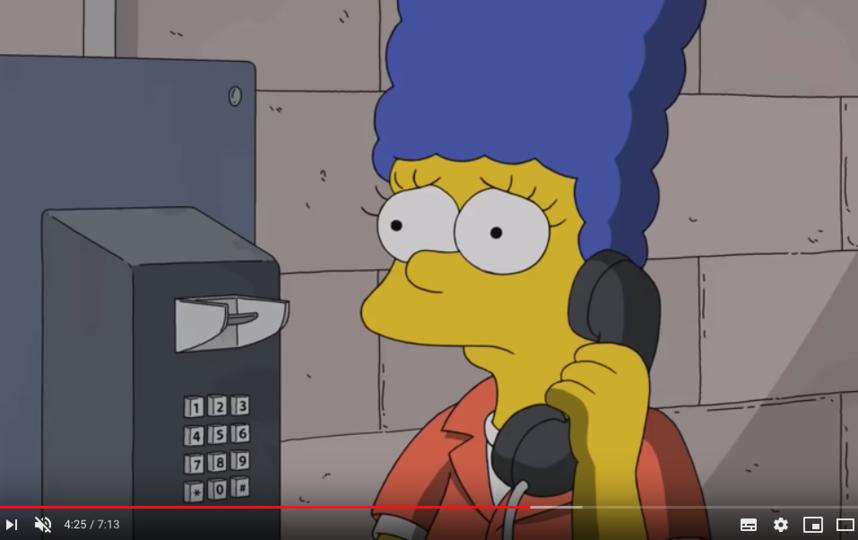 Мардж Симпсон. Фото скриншот https://www.youtube.com/watch?v=cUdSuEyLnWE