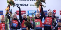 Женскую эстафету на чемпионате мира по биатлону выиграла сборная Норвегии