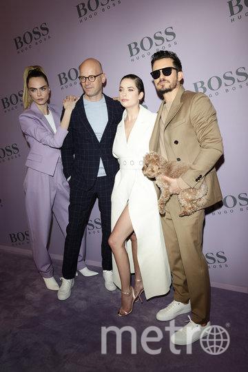 Среди гостей шоу BOSS – Кара Делевинь, Эшли Бенсон и Орландо Блум. Фото Getty