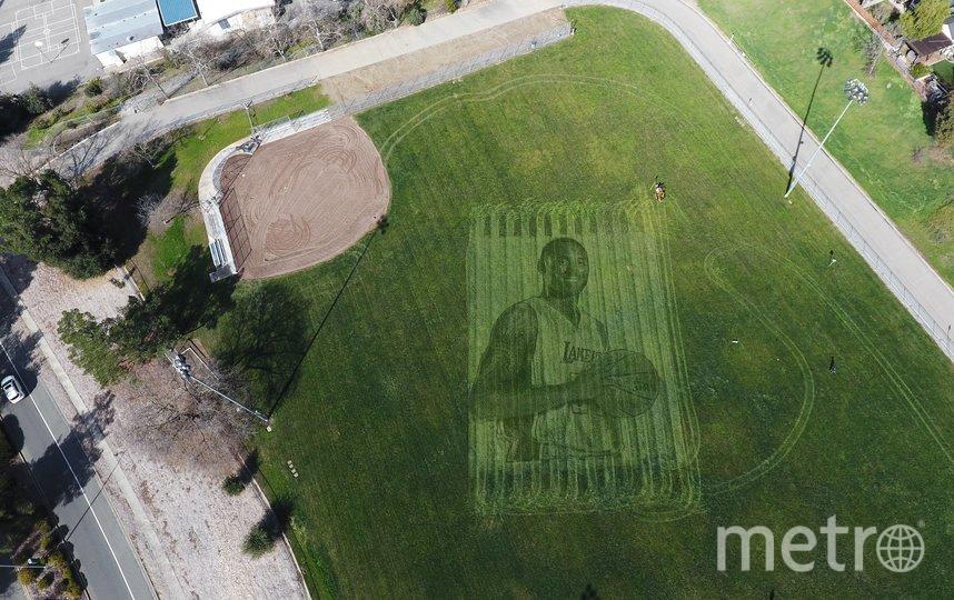 Высота изображения составляет 35 метров. Фото TWITTER / @NEWGROUND_TECH