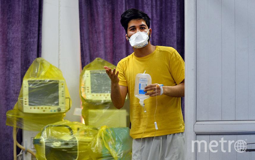 Иранский студент, у которого выявили Covid-19. Фото AFP