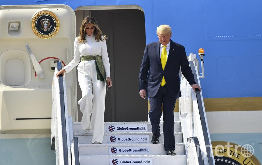 Президент США Дональд Трамп прибыл с первым официальным визитом в Индию. Фото AFP