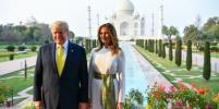 Мелания и Дональд Трамп устроили фотосессию на фоне Тадж-Махала