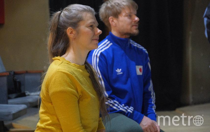 Финские танц-художники Мария Нурмела и Вилле Ойнонен на воркшопе. Фото предоставлено организаторами