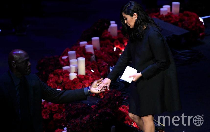 Церемония прощания с Коби Брайантом. Ванесса - жена баскетболиста. Фото Getty