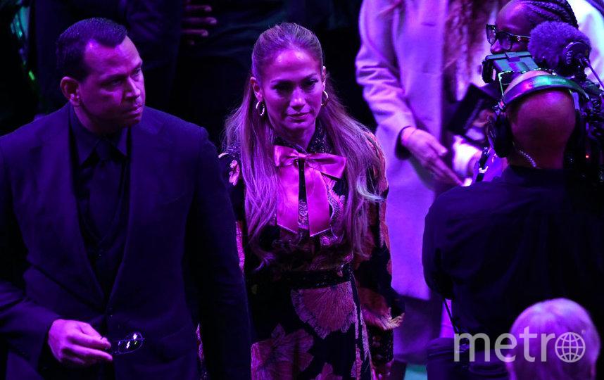 Церемония прощания с Коби Брайантом. Дженнифер Лопес и Алекс Родригес. Фото Getty