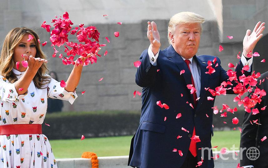 Дональд и Мелания Трамп посетили мемориал Радж Гхат. Фото AFP