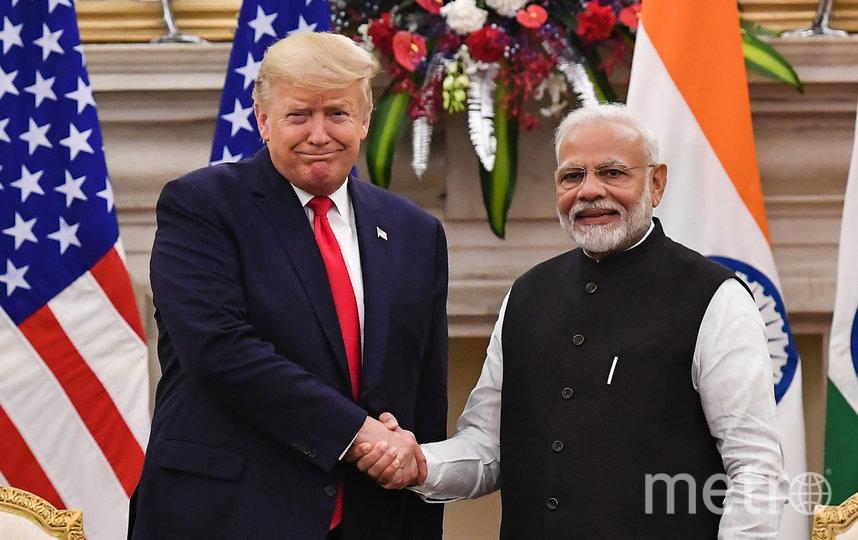 Дональд Трамп и Нарендра Моди. Фото AFP