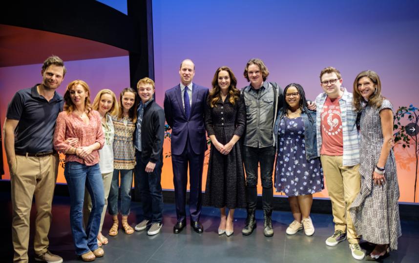 Кейт Миддлтон и принц Уильям посетили театр. Фото Getty