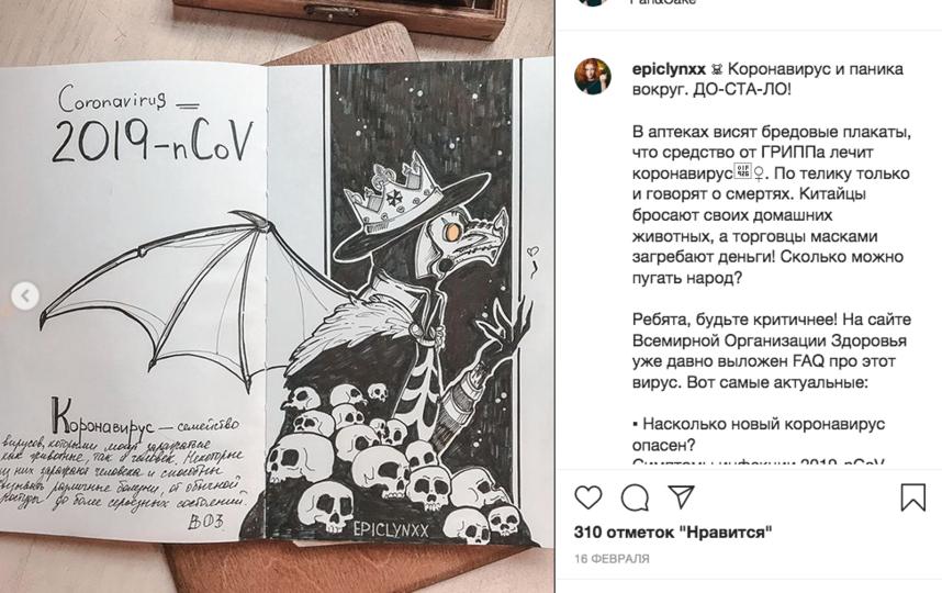 Работы художников. Фото Скриншот Instagram: @epiclynxx