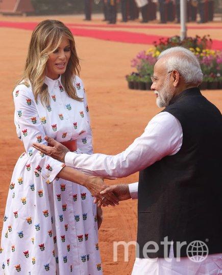 Наряды Мелании Трамп в Индии. Фото https://www.instagram.com/explore/tags/melaniatrump/