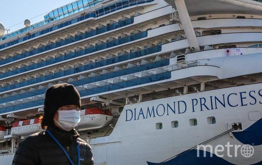 Восемь пассажиров судна были доставлены в Россию 23 февраля из Токио. Фото Getty
